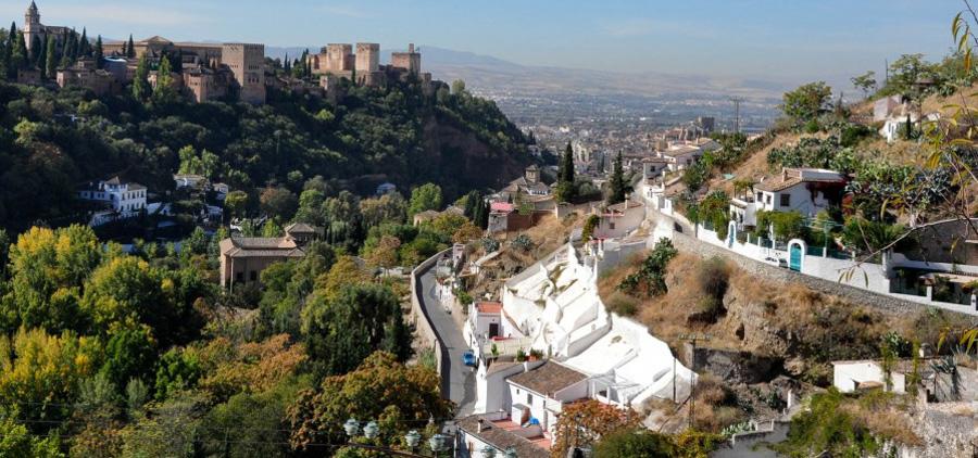 Vista del Sacromonte. Secretos de Granada